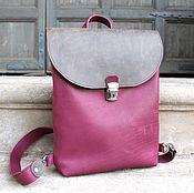 Рюкзак арт. 293/ягодный+серый