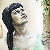 Фотокартины ручной работы. Ярмарка Мастеров - ручная работа Портрет девушки по фото на заказ 40х50. Handmade.
