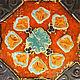 Большое керамическое блюдо Янтарь антик. Авторская керамика Ксении Гольд