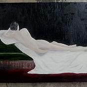 Картины и панно ручной работы. Ярмарка Мастеров - ручная работа Джанет в постеле. Handmade.