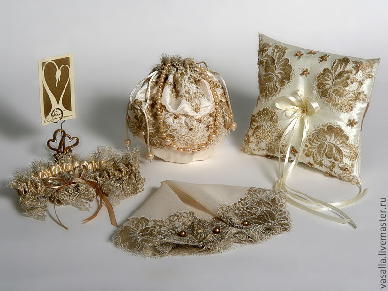 Accessories for bride from French Chantilly lace, Sets accessories, Moscow,  Фото №1