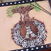 Канцелярские товары handmade. Livemaster - original item Photo album Tree of Life embossing. Handmade.