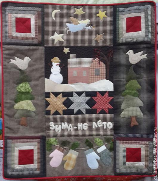 Текстиль, ковры ручной работы. Ярмарка Мастеров - ручная работа. Купить Новогоднее панно. Handmade. Темно-серый, Японский хлопок