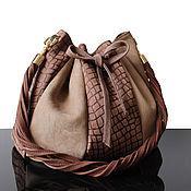 Сумки и аксессуары handmade. Livemaster - original item Tote bag, suede. Handmade.