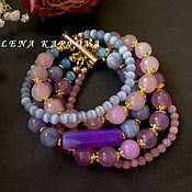 Украшения handmade. Livemaster - original item Bracelet Carnival. agate quartz aquamarine cat`s eye. Handmade.