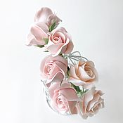 Свадебный салон handmade. Livemaster - original item Rim with roses. For wedding, graduation, photo shoot. polymer clay. Handmade.