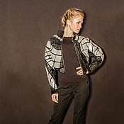 Одежда handmade. Livemaster - original item Jacket leather Steel. Handmade.
