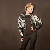 Одежда ручной работы. Ярмарка Мастеров - ручная работа Куртка из кожи Steel. Handmade.