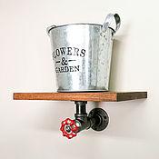 Для дома и интерьера handmade. Livemaster - original item Wall shelf made of wood and pipes in Loft style. Handmade.