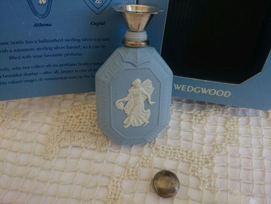 Винтажные предметы интерьера. Ярмарка Мастеров - ручная работа. Купить Коллекционный флакончик для духов Wedgwood с серебряной крышечкой. Handmade.