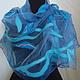 Шарфы и шарфики ручной работы. Ярмарка Мастеров - ручная работа. Купить валяный  шарф Весеннее небо. Handmade. Аксессуары