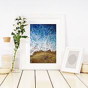 Картины и панно handmade. Livemaster - original item Painting seascape pastel