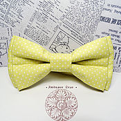 Аксессуары handmade. Livemaster - original item Classic Yellow pea Bow Tie/ Wedding Bow Tie/ cotton classic in 2 two-p. Handmade.