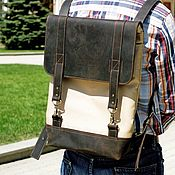 Мужской рюкзак ручной работы. Ярмарка Мастеров - ручная работа Городской рюкзак комбинированный (женский рюкзак, мужской рюкзак). Handmade.