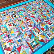 """Для дома и интерьера ручной работы. Ярмарка Мастеров - ручная работа Лоскутное покрывало """" Бирюза"""". Handmade."""