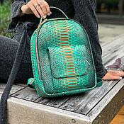 handmade. Livemaster - original item Backpack from Python. Handmade.