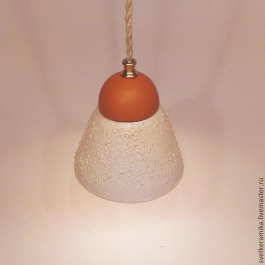 Освещение ручной работы. Ярмарка Мастеров - ручная работа. Купить Керамический светильник «Песчаный колокольчик». Handmade. Люстры потолочные
