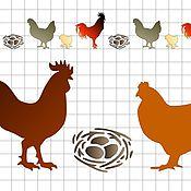 Материалы для творчества ручной работы. Ярмарка Мастеров - ручная работа Трафарет Петух курица гнездо А5. Handmade.
