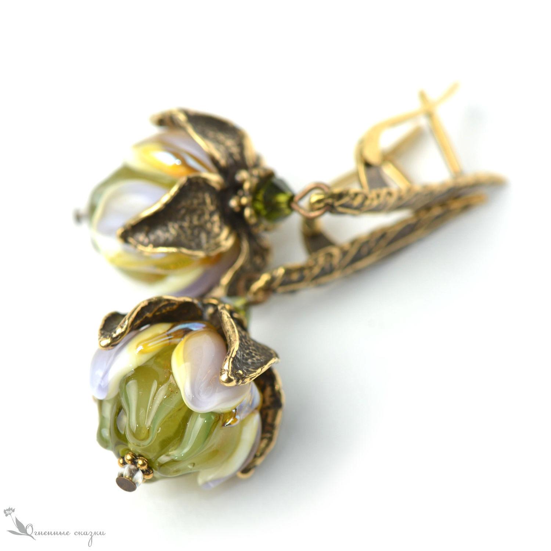 Pixie dust Flower Earrings, Earrings, Moscow,  Фото №1