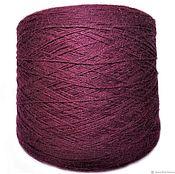 Yarn handmade. Livemaster - original item Yarn Angora 40%.Millefili spa. Burgundy. Yarn flow Italy. Handmade.