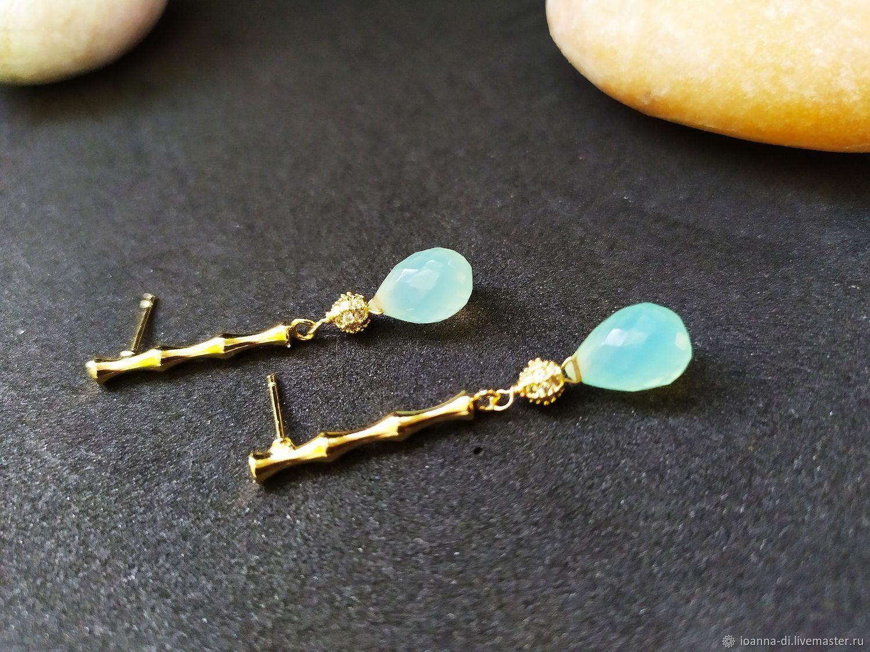 Earrings: bamboo.)), Stud earrings, Moscow,  Фото №1