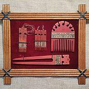 Украшения ручной работы. Ярмарка Мастеров - ручная работа Гребень из дерева, шпилька, серьги и кулон с инкрустацией. Handmade.
