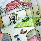 Картины ручной работы. Ярмарка Мастеров - ручная работа Иллюстрации для детской книги М.Никитиной История туфелек книжные. Handmade.