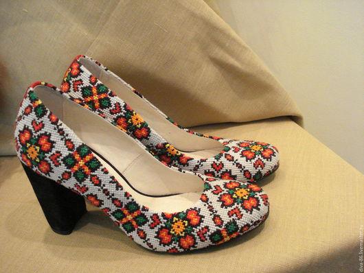 Обувь ручной работы. Ярмарка Мастеров - ручная работа. Купить Туфли ручной работі. Handmade. Комбинированный, натуральная кожа