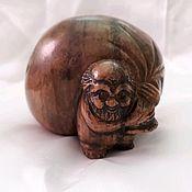 Для дома и интерьера handmade. Livemaster - original item Sculpture made of natural Ural ornamental stones brownie. Handmade.