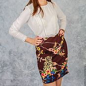 Одежда handmade. Livemaster - original item Pencil skirt Owls. Handmade.