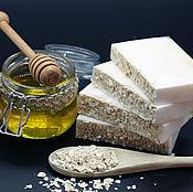 Мыло ручной работы. Ярмарка Мастеров - ручная работа Мыло с молоком ослиц Овсянка с медом. Handmade.
