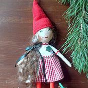 Куклы и игрушки ручной работы. Ярмарка Мастеров - ручная работа Новогодняя девочка. Handmade.