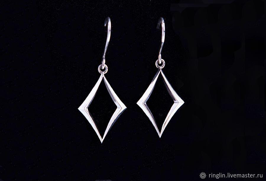 Earrings classic: White diamond, Earrings, Moscow,  Фото №1