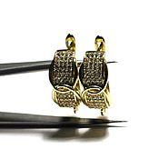 Материалы для творчества ручной работы. Ярмарка Мастеров - ручная работа Швензы позолоченные со стразами английский замок 169. Handmade.
