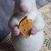 Войлочная игрушка ручной работы. Ярмарка Мастеров - ручная работа Белый Крыс. Handmade.