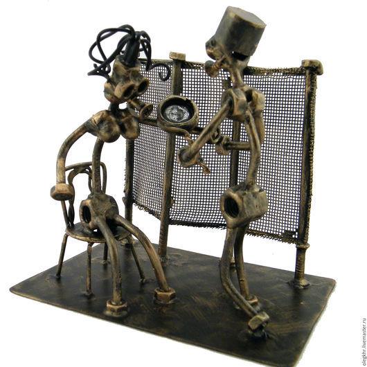 Миниатюрные модели ручной работы. Ярмарка Мастеров - ручная работа. Купить Дерматовенеролог. Handmade. Скульптурная миниатюра, подарок хирургу, гайкаглазые