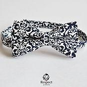 Аксессуары handmade. Livemaster - original item Tie Pattern / bow tie dark blue with pattern. Handmade.