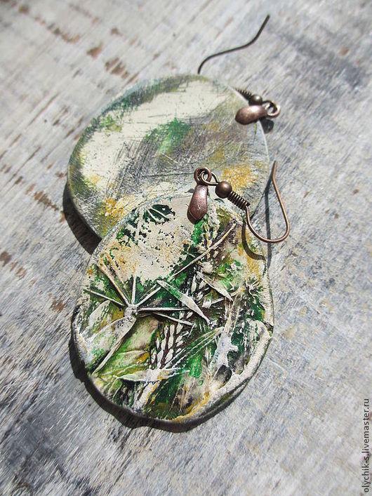"""Серьги ручной работы. Ярмарка Мастеров - ручная работа. Купить Серьги """"Душистые травы"""". Handmade. Бусы, украшения из пластики, серьги"""
