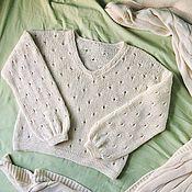 Одежда handmade. Livemaster - original item Jumper ivory cotton. Handmade.