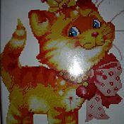 Материалы для творчества ручной работы. Ярмарка Мастеров - ручная работа `Котик` набор для вышивки крестом.. Handmade.