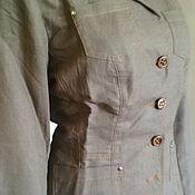 Одежда ручной работы. Ярмарка Мастеров - ручная работа пиджак , жакет льняной женский. Handmade.