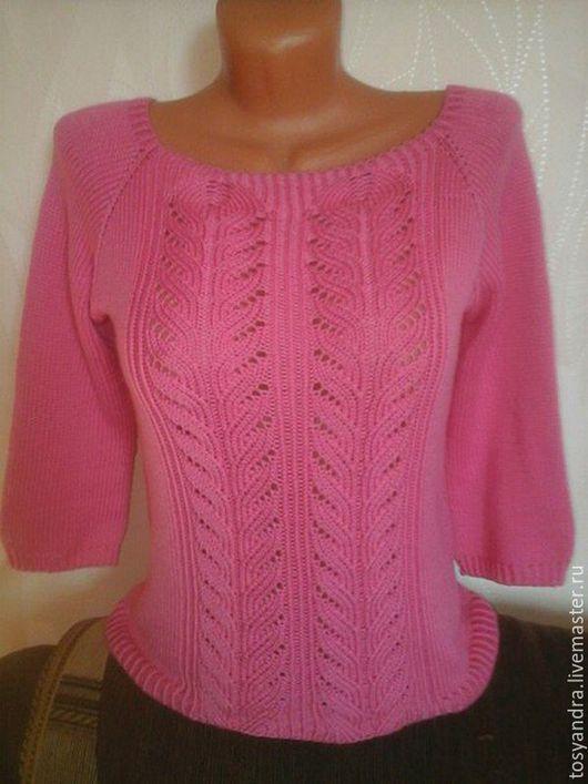 """Кофты и свитера ручной работы. Ярмарка Мастеров - ручная работа. Купить Пуловер """"розовый фламинго"""". Handmade. Розовый, рисунок"""