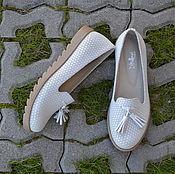 Обувь ручной работы. Ярмарка Мастеров - ручная работа Лоферы замшевые с кисточками. Handmade.
