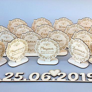 Свадебный салон ручной работы. Ярмарка Мастеров - ручная работа Таблички-рассадки на стол. Handmade.