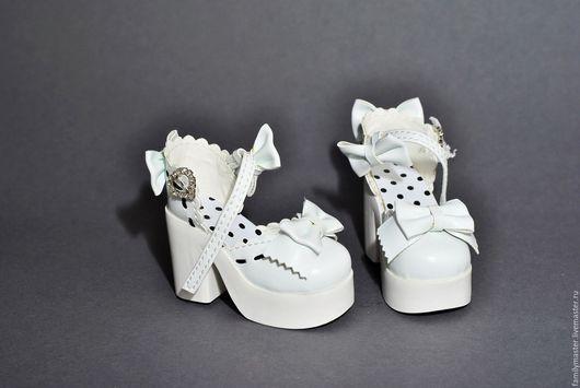 Куклы и игрушки ручной работы. Ярмарка Мастеров - ручная работа. Купить туфли для кукол БЖД 7,5см. Handmade. Белый