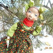 Куклы и пупсы ручной работы. Ярмарка Мастеров - ручная работа Авторская подвижная кукла Веснушка из папье маше. Handmade.