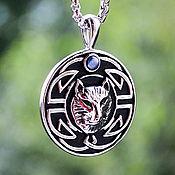Украшения handmade. Livemaster - original item Pendant Wolf with Celtic cross of jewelry steel. Handmade.