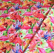 """Материалы для творчества ручной работы. Ярмарка Мастеров - ручная работа Плащевка """"Фламинго"""". Handmade."""