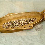 Для дома и интерьера ручной работы. Ярмарка Мастеров - ручная работа поднос деревянный резной. Handmade.