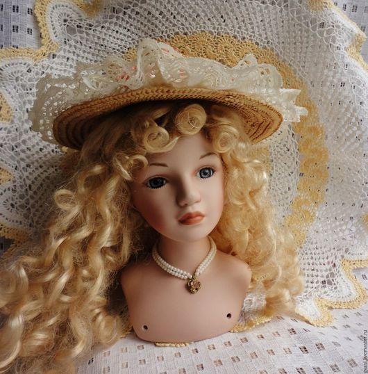 """Куклы и игрушки ручной работы. Ярмарка Мастеров - ручная работа. Купить Головка куклы, красавицы """"Златовласки"""", 7 дюймов. Винтаж из Австралии.. Handmade."""
